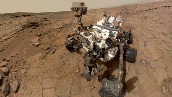 File image from NASA shows self-portrait of the Curiosity rover on Mars.