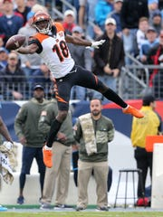 A.J. Green is unable to make the catch during the Bengals