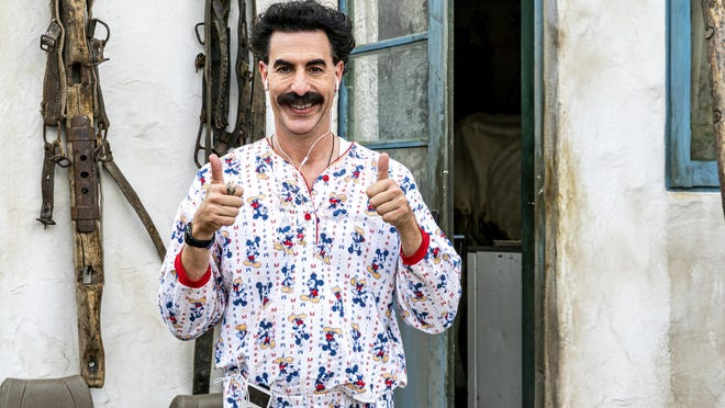 "Sacha Baron Cohen in a scene from ""Borat Subsequent Moviefilm."""