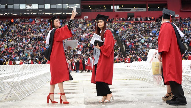 The 252nd commencement for Rutgers University was held at High Point Solutions Stadium in Piscataway on Sunday, May 13, 2018.
