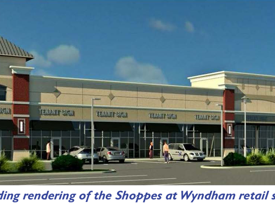 A rendering of a proposed shopping center near York
