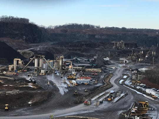 The Stavola Quarry in Bridgewater as seen from Washington