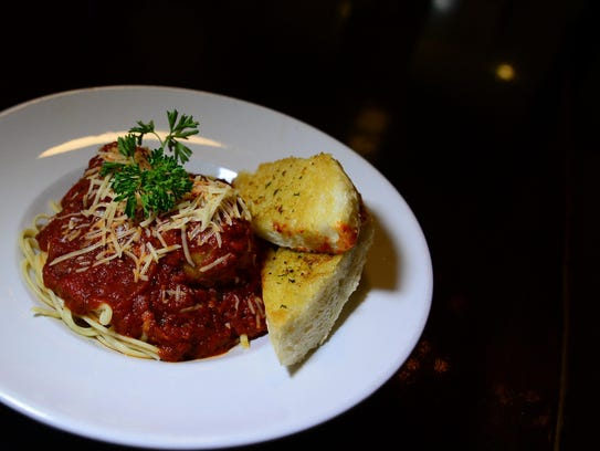Vinny Bellia's spaghetti and meatball is a featured