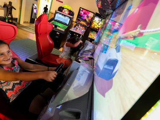 Elliana Davis (7) and her sister Berkley Davis (5) enjoy the games arcade after eating lunch. Punta Gorda Beef 'O' Brady's owner Chris Lansdale started with the restaurant over a decade ago as a manager and cook. After working his way up through the ranks, and eventually taking ownership of the restaurant in 2015, Chris quickly made a name for himself in the company and community. His Beef 'O' Brady's is the top producing restaurant in the chain.