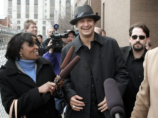 Kid Rock is all smiles in February 2005 when he is