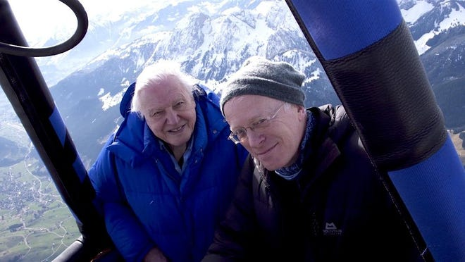 "Mike Gunton, right, and David Attenborough together produce ""Planet Earth: Dynasties,"" a sprawling series that covers a huge range in temperaments (from lions to penguins) and temperatures (from 111 degrees to minus-40)."