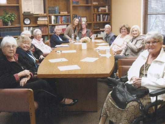 A 2013 Three Rivers Woman's Club board meeting.
