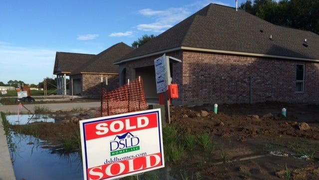 New subdivisions like Evangeline Grove off West Broussard near Lafayette have recorded brisk sales.