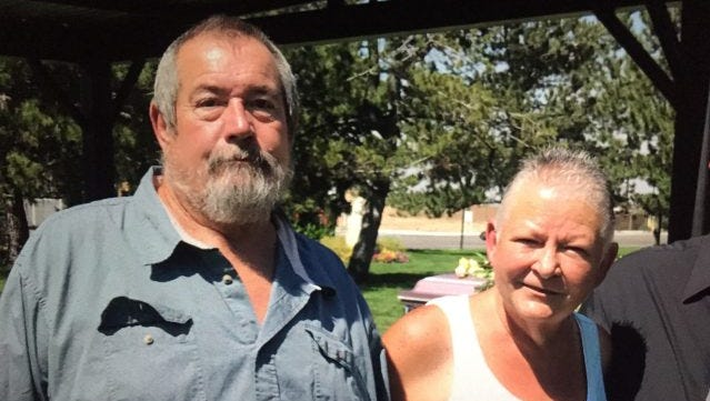 Remains belonging to missing 63-year-old Susan McFalls, pictured left, were identified by Mohave County Sheriff's Office on Thursday after being found in the Virgin River Gorge on Oct. 18.