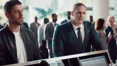 Aaron Rodgers and Clay Matthews are back together in another new State Farm commercial.