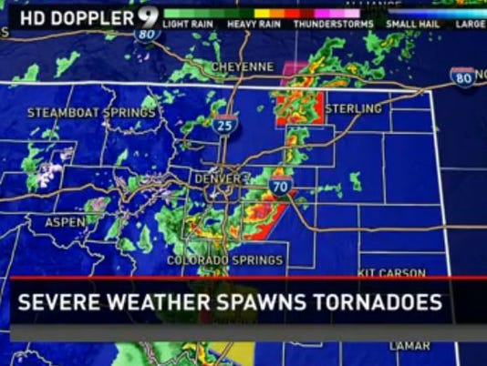 Severe Storms Spawn Tornadoes In Colorado