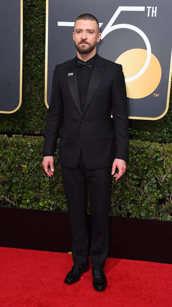Justin Timberlake arrives at the 75th annual Golden