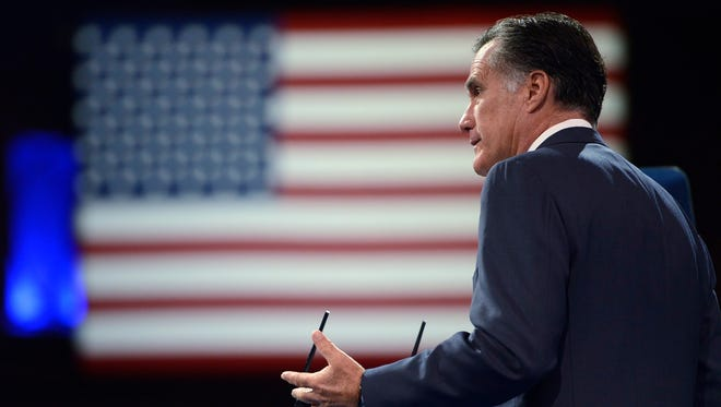 Mitt Romney speaks at the Conservative Political Action Conference in National Harbor, Md., on March 15, 2013.