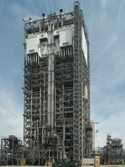 Two gasifiers in this 32-story gasification tower convert