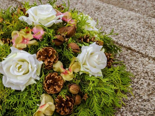 Wreath on grave
