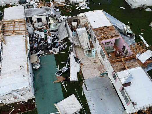 Aerial photos show the damage left behind in Irma's