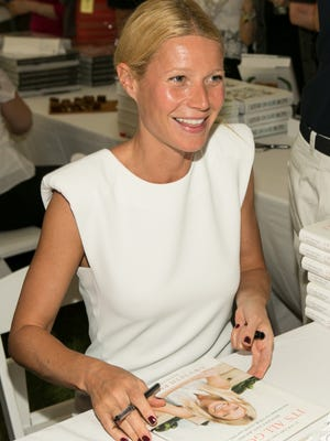 Unlike a couple of her fellow authors, Gwyneth Paltrow was all smiles at a recent book event.