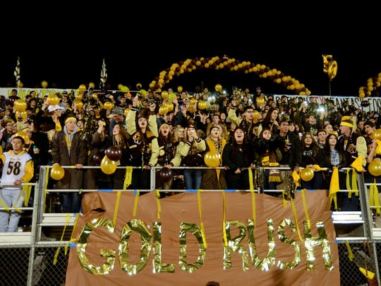 Golden West fans cheer on their team during the annual