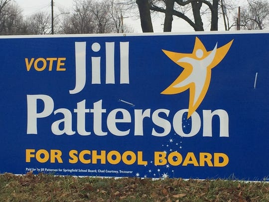 This sign supporting Springfield school board candidate