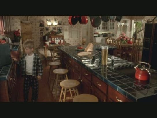 Kevin McCallister inside the kitchen.