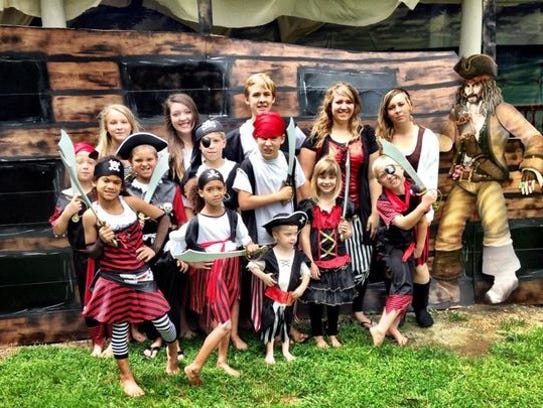 The Ness children, in pirate form.