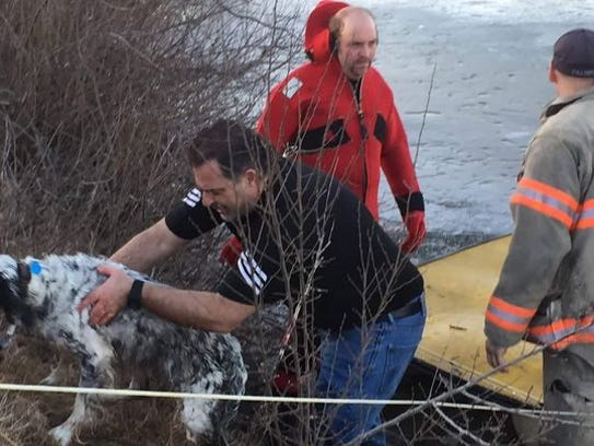 Residents and Charlotte firefighters rescued a man