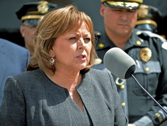 New Mexico Gov. Susana Martinez talks on a new program