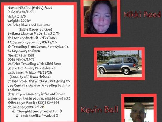 A missing persons flier shared by family and friends
