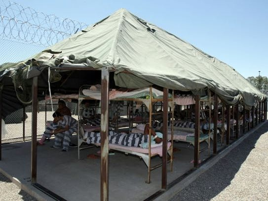 Prisoners must live in the tents at Sheriff Joe Arpaio's