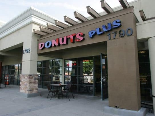 The owner of mom-and-pop Donuts Plus in the Simi Marketplace