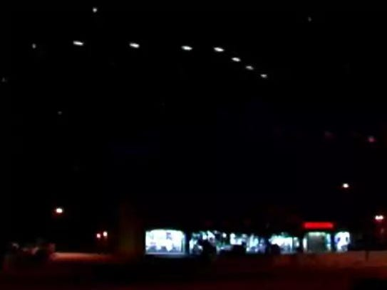 An image of the Phoenix Lights captured by Dr. Lynne