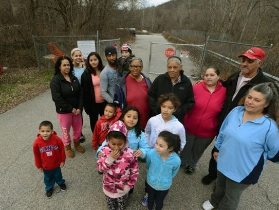 Residents who live next to the Ringwood Superfund site