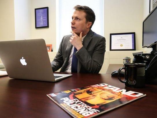 ACLU attorney Ryan Tack-Hooper's work is focused on