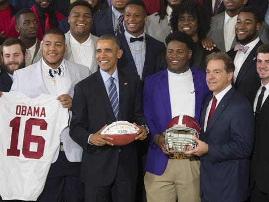 Alabama made its fourth visit to the White House with