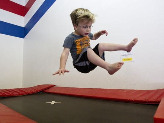 Bouncing on trampolines is one of many activities kids