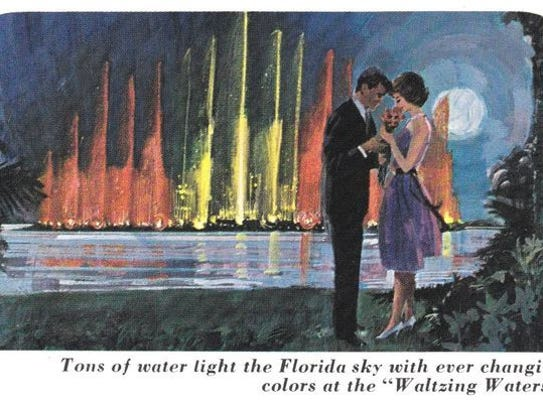An artist's rending of the Waltzing Waters at Cape