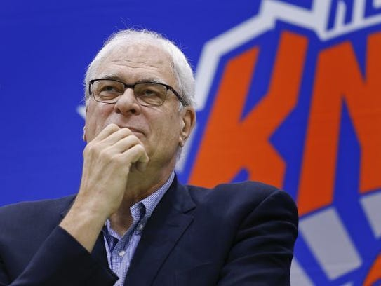 The Knicks parted ways with team president Phil Jackson
