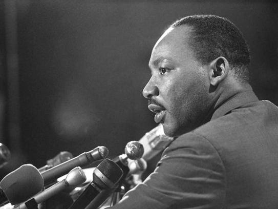 Dr. Martin Luther King Jr. is seen here in 1967.