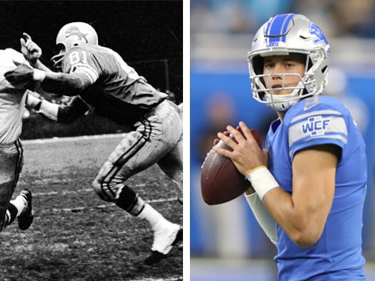 "10 Dick Night Train"" Lane vs. 15 Matthew Stafford"