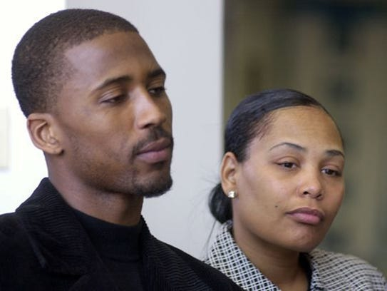 March 3, 2003 - Lorenzen Wright and his wife Sherra