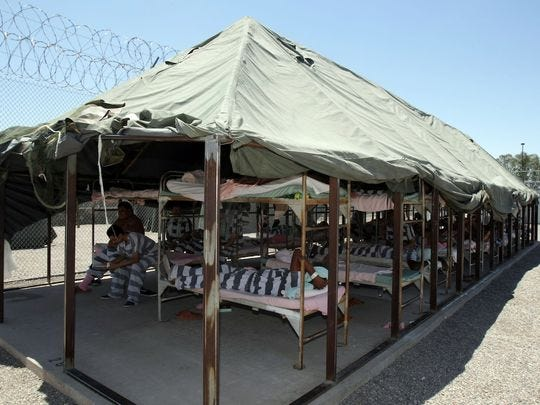 Prisoners must live in the tents at Sheriff Joe Arpaiou0027s & Sheriff Joe Arpaiou0027s Tent City Jail propels former inmate to ...