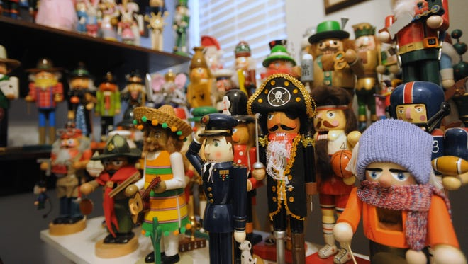 Austin Schussler has an extensive character nutcrackers collection.
