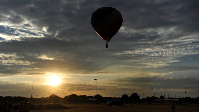 A balloon takes off during the morning flight of a previous Big Country Balloon Fest.