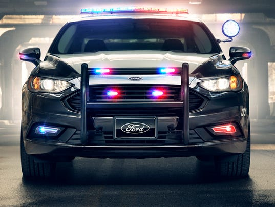 ford s new police car his a fusion hybrid that s been modified to be