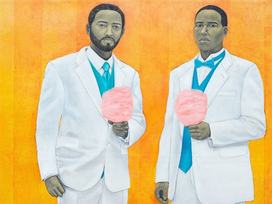 """High Yella Masterpiece: We Ain't No Cotton Pickin' Negroes, 2011,"" by artist Amy Sherald"