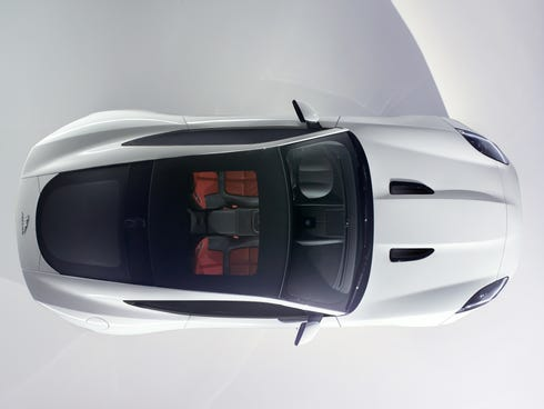 Jaguar teaser photo of the coming F-Type coupe model that will be unveiled ahead of the L.A. Auto Show on Nov. 19. The F-Type coupe also will be the star of Jaguar's first-ever Super Bowl ad in February.