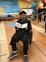 Skyler Paris, 17, was able to graduate from Stewarts