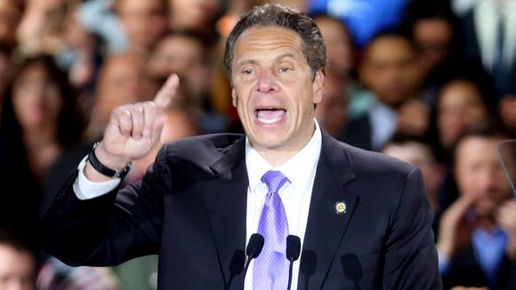 New York Governor Andrew Cuomo addressed supporters