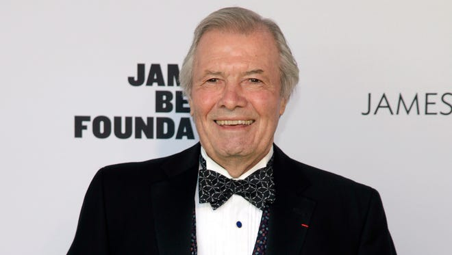In this May 5, 2014 file photo, restauranteur Jacques Pepin attends the 2014 James Beard Foundation Awards in New York. KQED Public Television, the San Francisco-based public television affiliate that has produced more than a dozen of Pepin?s popular cooking series over the last quarter century, said in a release last week that it will begin recording Pepin?s final series in October. Called ?Jacques Pepin: Heart and Soul,? the 26-episode series will draw on the chef?s 60 years in the kitchen and on past episodes he has recorded. It is scheduled to air in the fall of 2015. A companion cookbook, published by Houghton Mifflin Harcourt, will be released in October 2015.