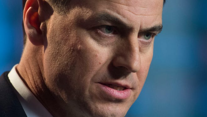 University of Tennessee athletic Director John Currie during a press conference announcing the departure of Butch Jones on Sunday, November 12, 2017.